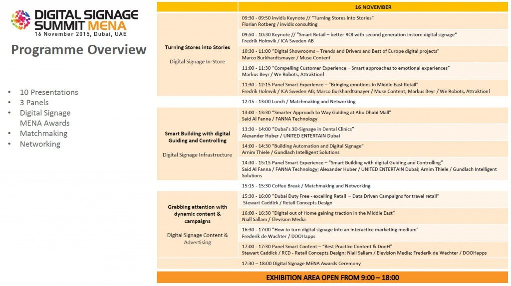 DSS MENA Conference Agenda