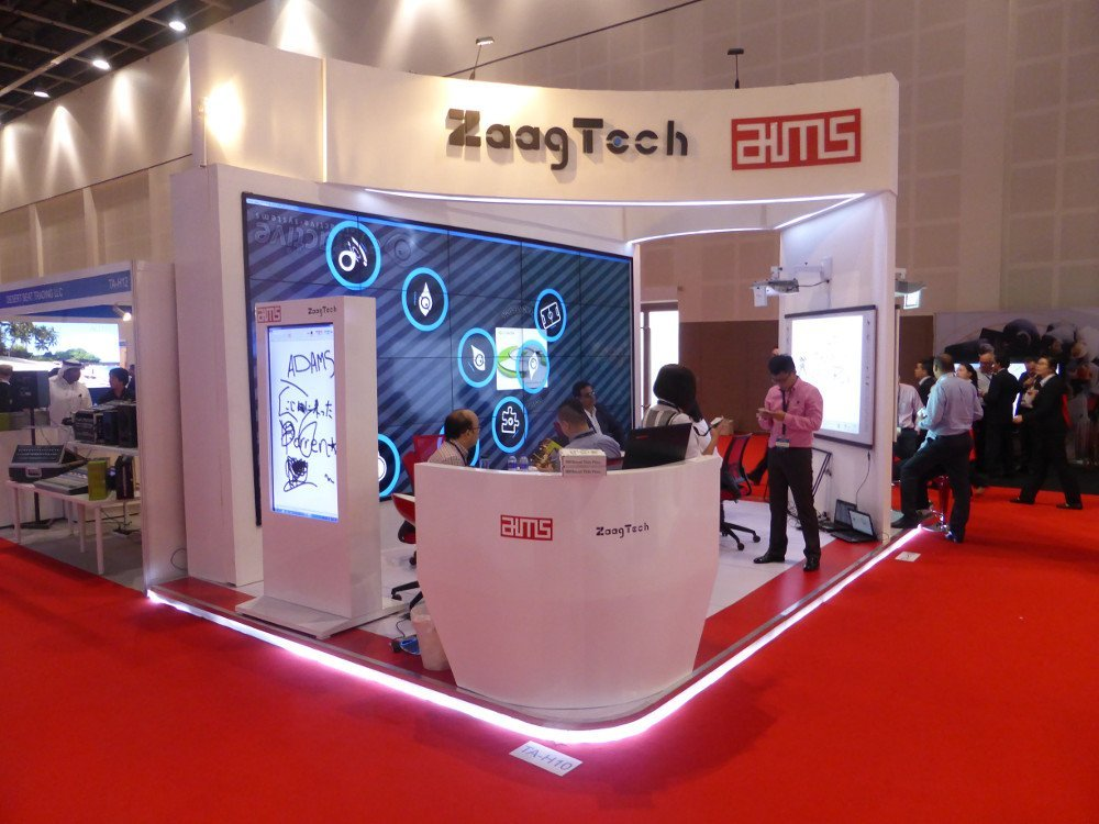 AIMS and Zaagtech at Infocomm MEA (Photo: invidis)
