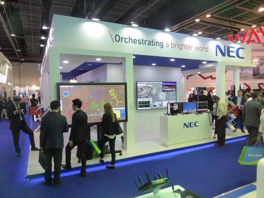 NEC nooth at gitex dubai (Photo: invidis)