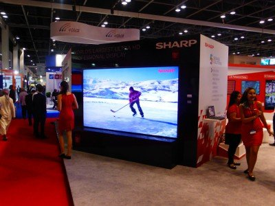 "Sharp 120"" at Gitex/Infocomm mEA (Photo: invidis)"