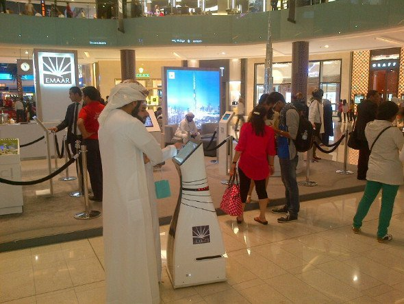 Emaar builds on autonomous kiosks (Photo: WeRobots)