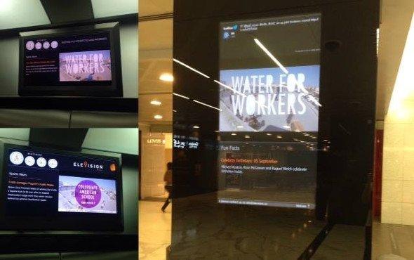 Screens in Elevators (Photo: Elevision)
