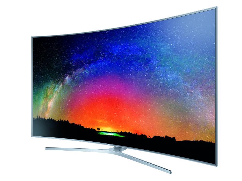Beispiel für Wide Color Gamut Samsung SUHD TV JS9590 mit größerem Farbraum auf Nano Crystal Color Technologie Basis (Foto: Samsung)