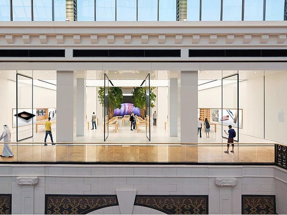 Blick auf den neuen Apple Store in der Mall of the Emirates (Foto. Apple)