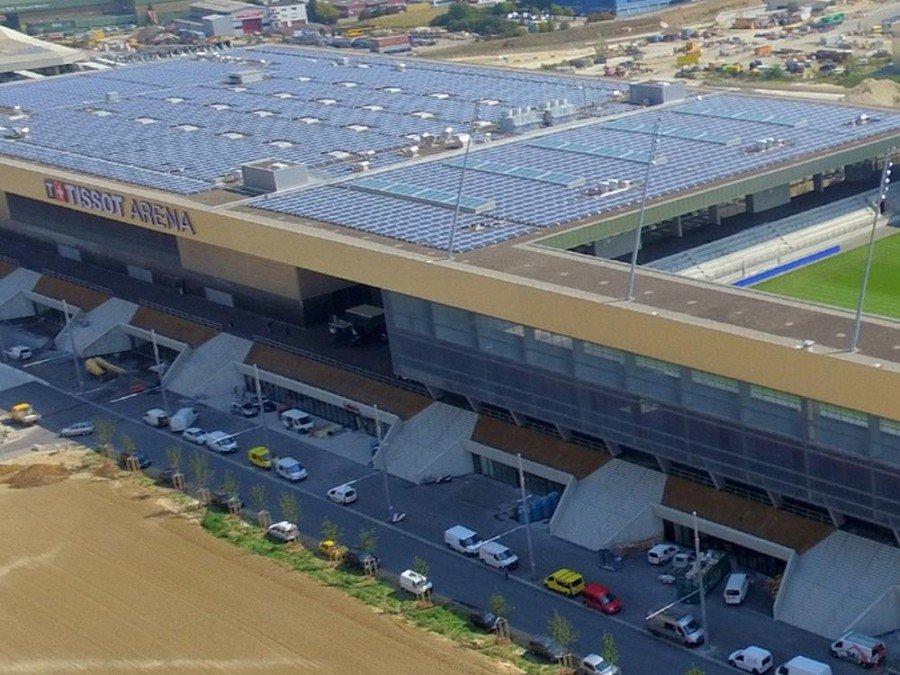 Blick auf die Tissot Arena (Foto: Tissot Arena)
