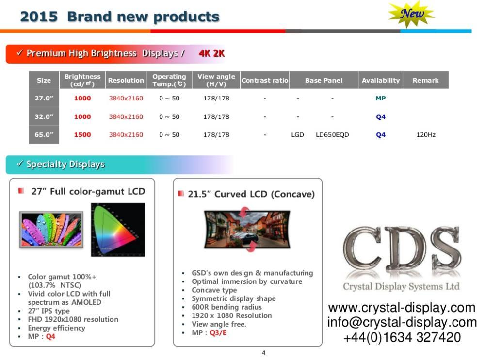 Crystal Display Systems dreht den Spieß um - Concave Curved Screen ist angekündigt (Screenshot: invidis)