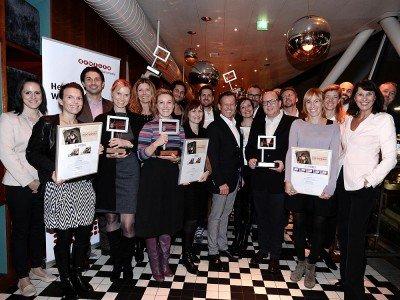 Gruppenbild mit Gewinnern - Verleihung der Rolling Board Creative Trophy 2015 (Foto: Gewista)