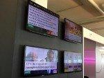 Inhalte des News Feeds von passengertv auf vier Screens (Foto: passengertv)