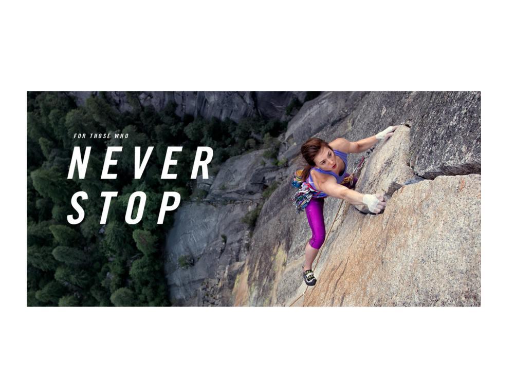 "Motiv der Markenkampagne ""Never stop"" (Foto: Businesswire)"
