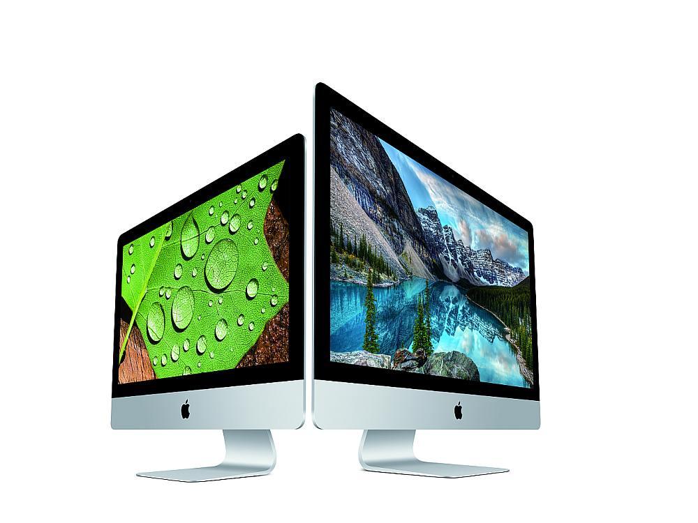 Neue Retina iMacs mit 4K und 5K Screens mit erweitertem Farbraum (Foto: Apple)
