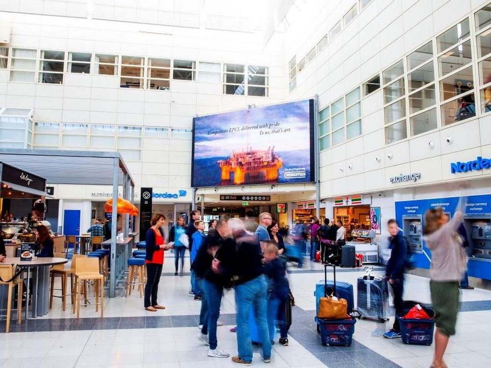 Neuer LED Screen am Airport in Bergen (Foto: Absen)