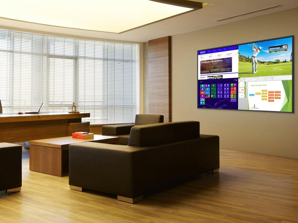 Screen aus der UltraRes Serie in einem Büro (Foto: Planar)