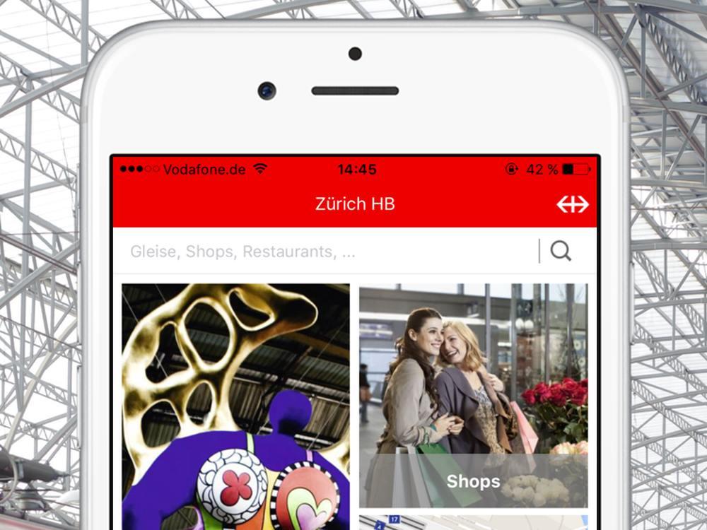 Startbildschirm der Version 2 der App Mein Bahnhof (Screenshot und Montage: infsoft)