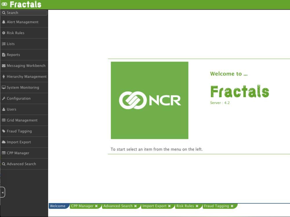 Blick auf die neue Benutzeroberfläche von Fractals (Screenshot: NCR)