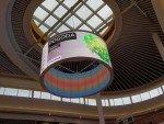 Curved LED Screen in der Galeria Kasimierz Krakau (Foto: BIGLED)
