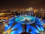 Der ehemalige Millenium Dome wurde zum Medium (Foto: d3 Technologies)