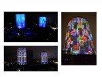 Die beiden Türme der Akmerkez Shopping Mall beim Jahreswechsel 2014 auf 2015 (Fotos: Barco; Montage: invidis)