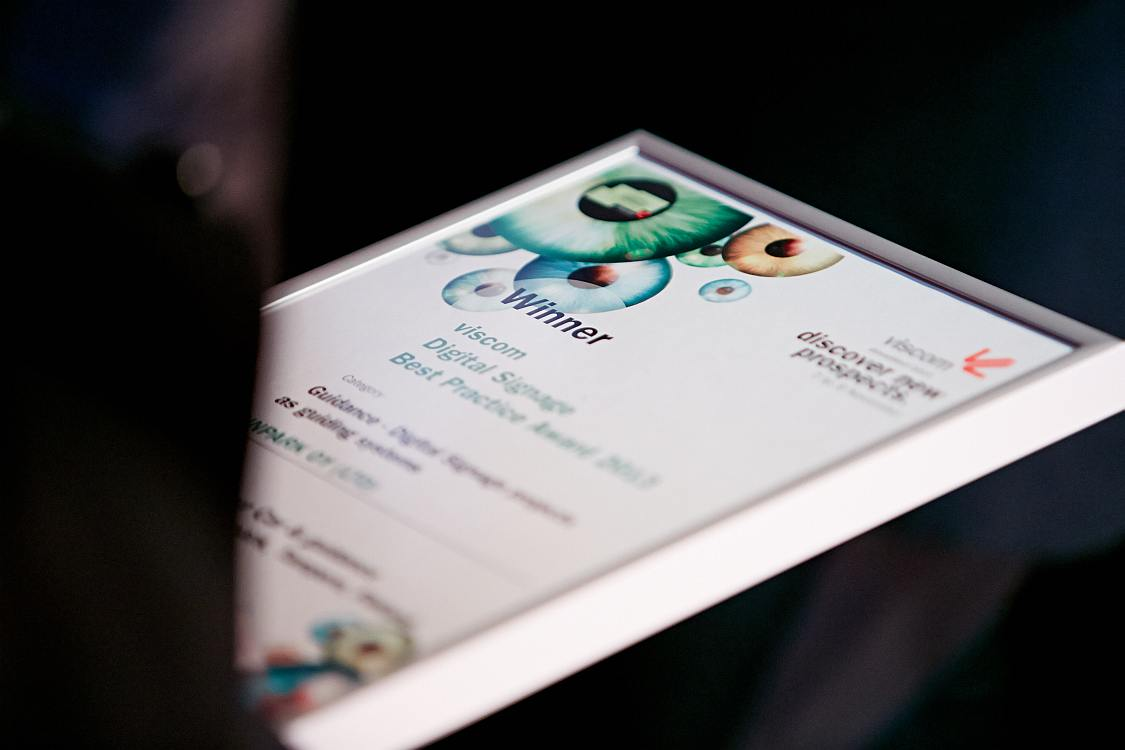 Digital Signage Best Practice Award 2015 - aus den Nominierten werden die Gewinner des Wettbewerbs ermittelt (Foto: Viscom)