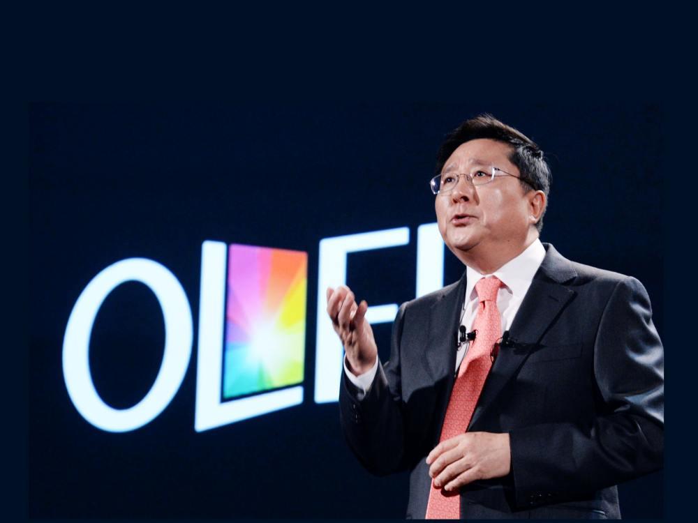 LG Display CEO Dr. Sang Beom Han auf der IFA 2015 (Foto: LG Display)