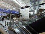 Ursprünglicher Zustand im Terminal vor der Installation diverser DooH Screens (Foto: Wilmotte & Associés)