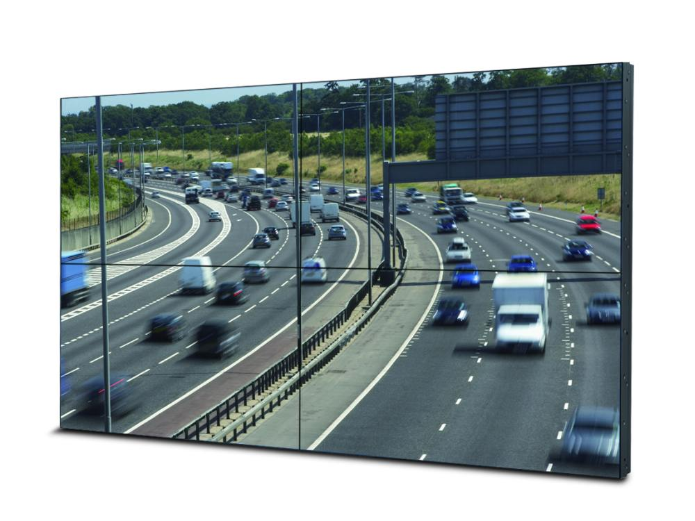 Video Wall mit vier 55-Zoll Screens LM55P2 (Foto: Mitsubishi Electric)