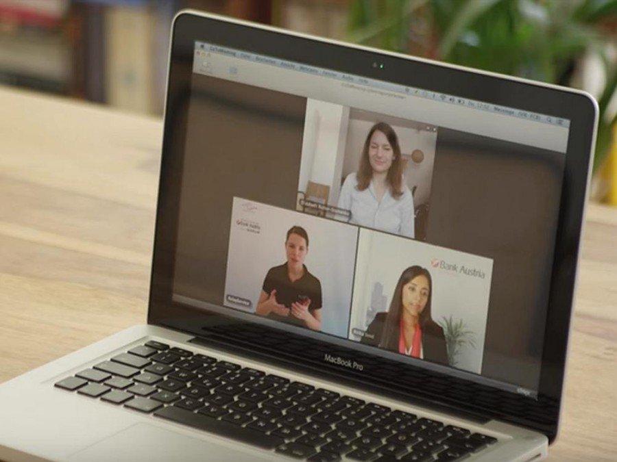 Videochat Funktion mit Gebärdendolmetscherin (Screenshot: invidis)