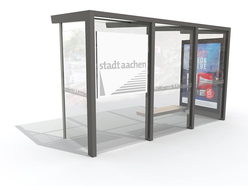 Entwurf für neue Street Furniture in Aachen (Rendering: Epsilon)