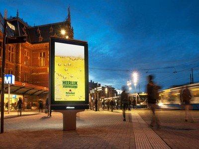 Heineken Kampagne auf einem der neuen DooH Screens (Foto: JCDecaux)