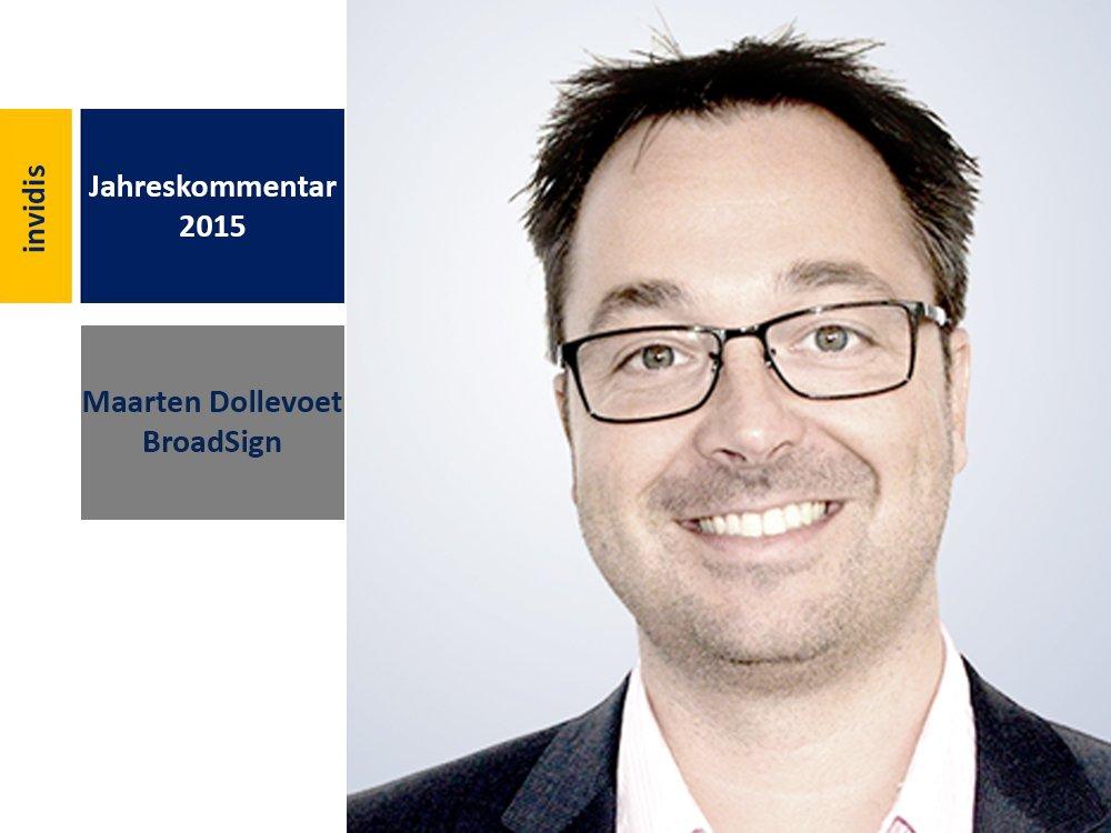 Digital Signage-Jahreskommentar 2015: Maarten Dollevoet (Bild: BroadSign International)