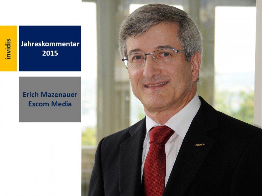 Digital Signage-Jahreskommentar 2015: Erich Mazenauer (Bild: Excom Media)