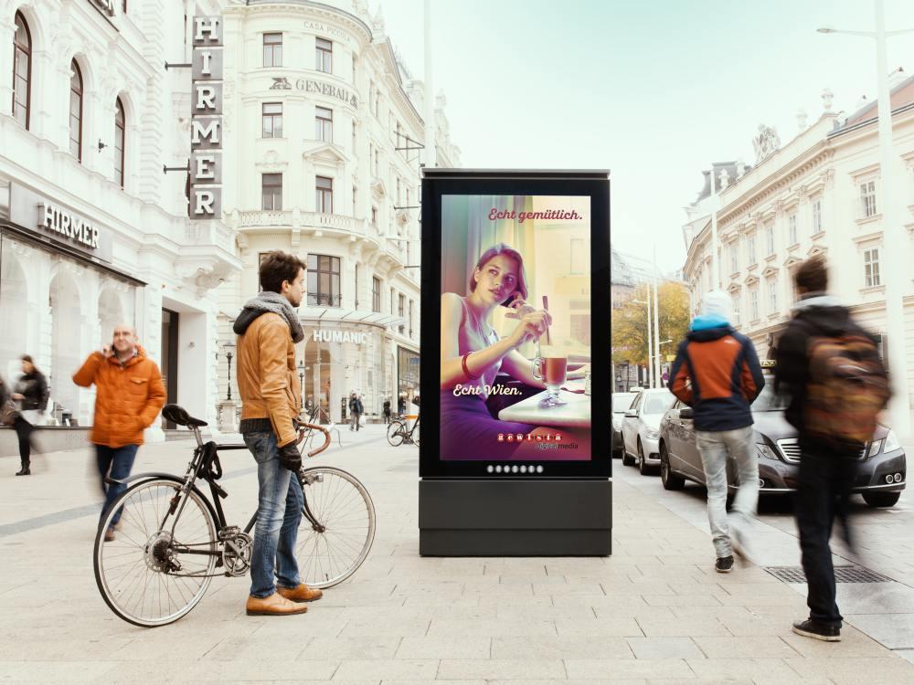 Neuer 84 Zoll Screen an der Mariahilfer Straße in Wien (Foto: Gewista)