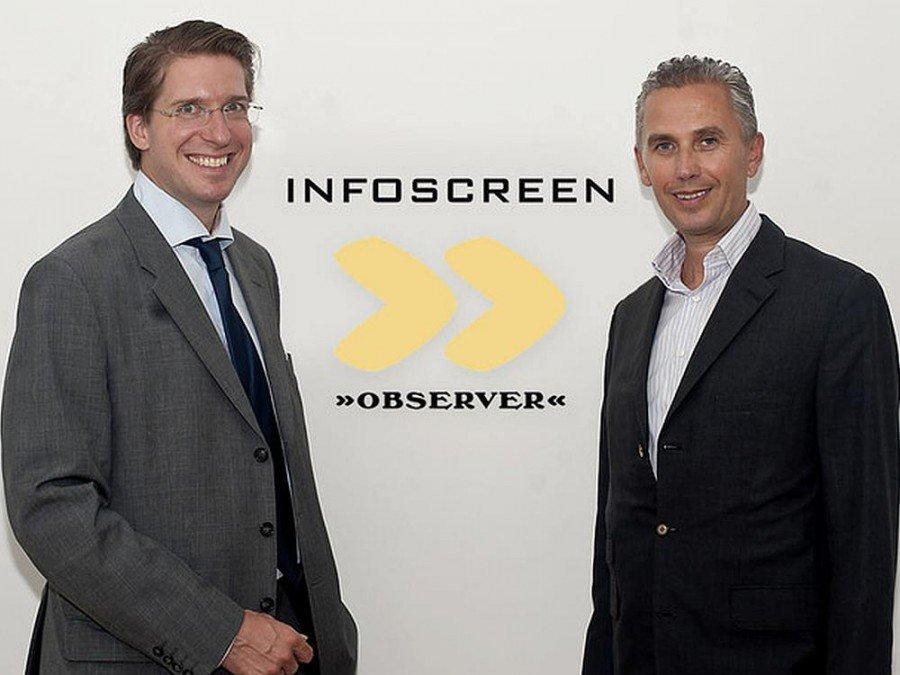 Observer GF Florian Laszlo und Infoscreen GF Franz Solta (Foto: Infoscreen Austria)