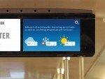 Screen des Münchner Fenster mit Content von Wetter-Sponsor O2 (Foto: mcR&D)