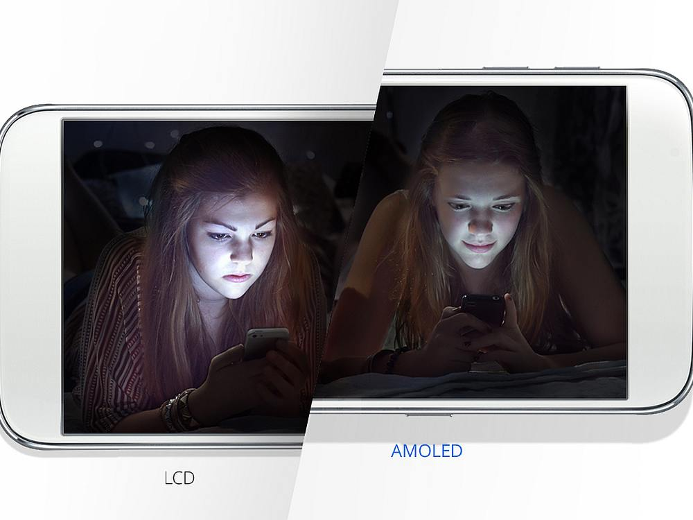 Smartphone mit LCD und OLED Screen (Foto: Samsung Display)