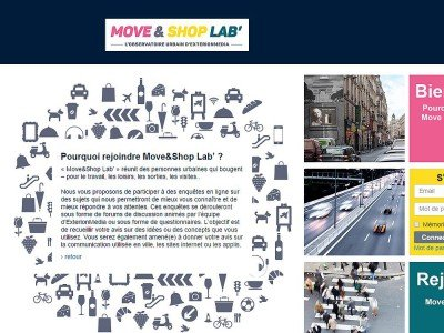 Startseite des Move&Shop Lab (Screenshot: invidis)