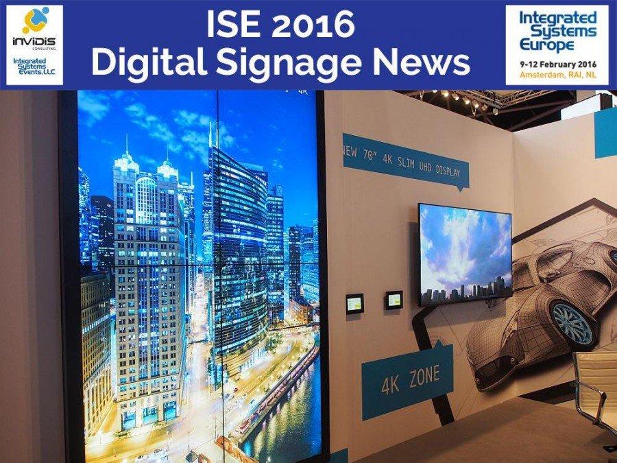 UCCT Video Wall am Stand von Sharp auf der ISE 2015 (Foto: invidis)