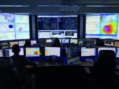 Zahlreiche Screens sind im FOC im 24 /7 Einsatz (Foto: eyevis)