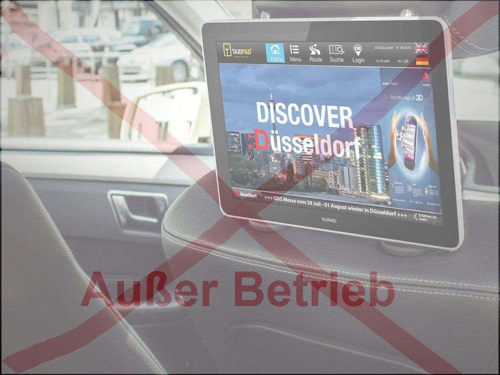 Außer Betrieb - Taxipad musste den Betrieb seines Netzwerks aufgeben (Foto: Taxipad; Grafik/ Montage: invidis)
