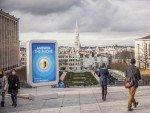 Auch auf dem Mont des Arts waren Brüsseler Passanten telefonisch erreichbar (Foto: VisitBrussels)