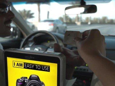 Bislang wurden 20.000 ausgerollt - Pencil Line Tablet in einem Taxi (Screnshot: invidis)