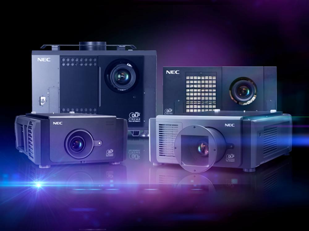 Familienfoto - verschiedene NEC Digital Cinema Modelle (Foto: NEC)