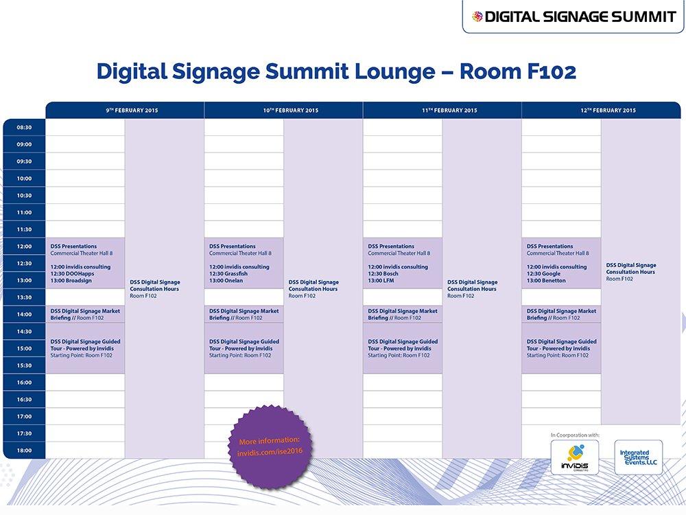 invidis Digital Signage Events auf der ISE 2016 (Grafik: invidis)