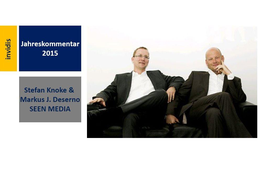 Digital Signage-Jahreskommentar 2015: Stefan Knoke und Markus J. Deserno (Bild: SEEN MEDIA)