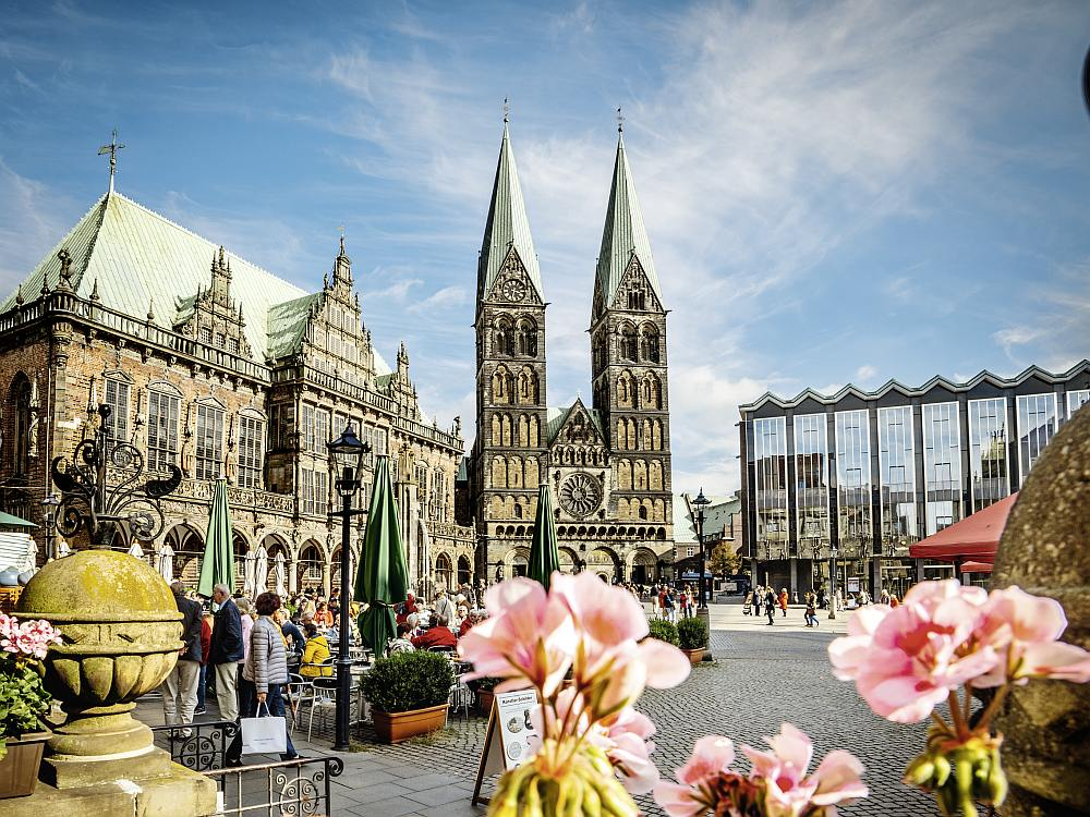 Marktplatz in Bremen (Foto: Jonas Ginter / BTZ Bremer Touristik-Zentrale)