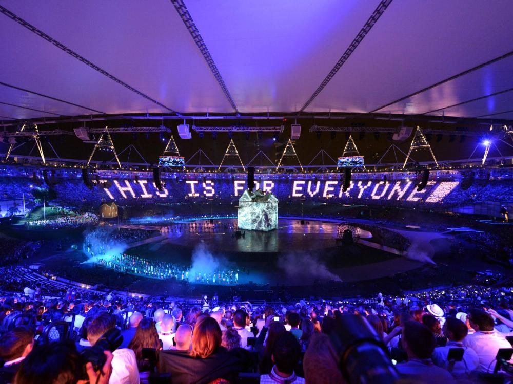 Messlatte liegt hoch - Eröffnungsfeier der Olympiade 2012 in London (Foto: Panasonic)