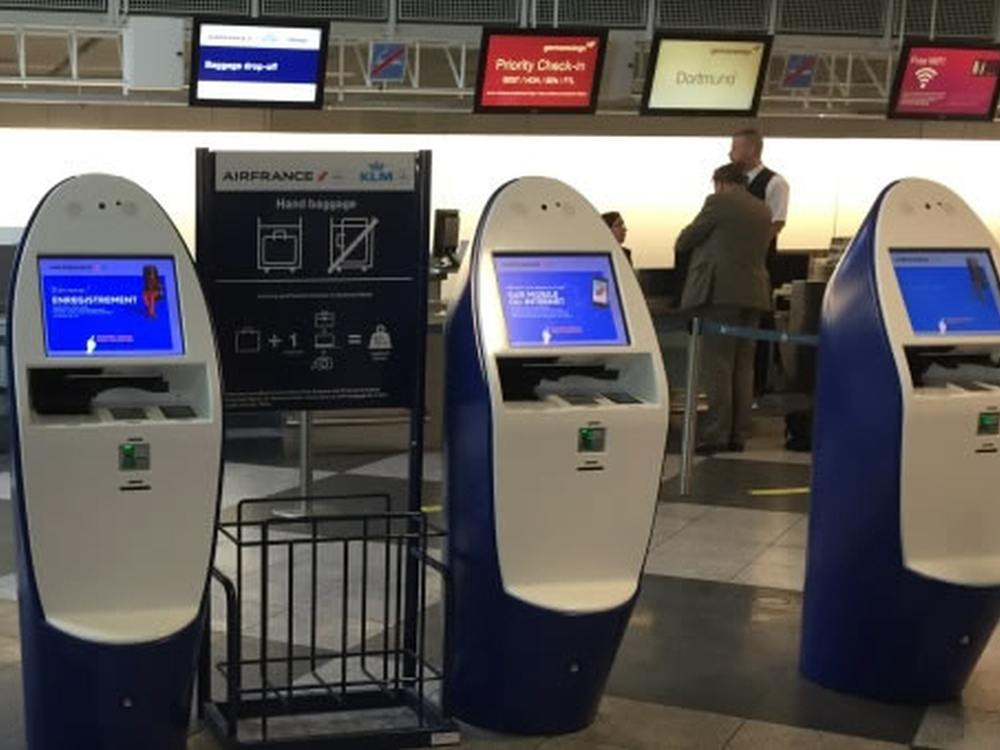 Neue Self Service Terminals von Air France-KLM (Foto: SITA)
