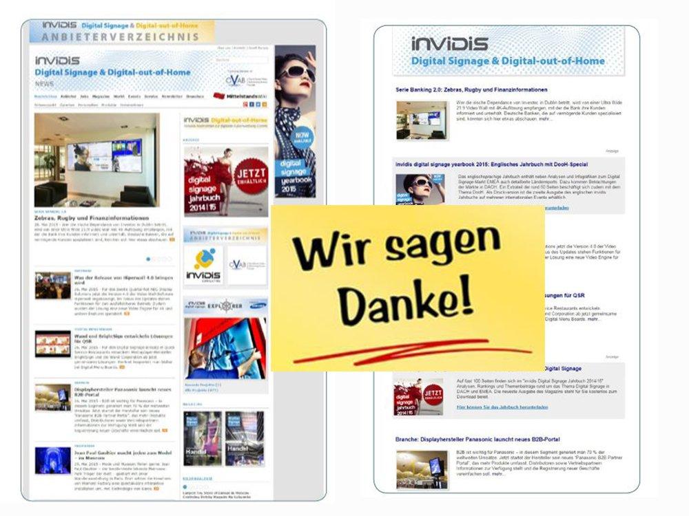 Rückblick 2015 invidis.de - das führende deutschsprachige Portal für Digital Signage und Digital-out-of-Home (Bild: invidis)