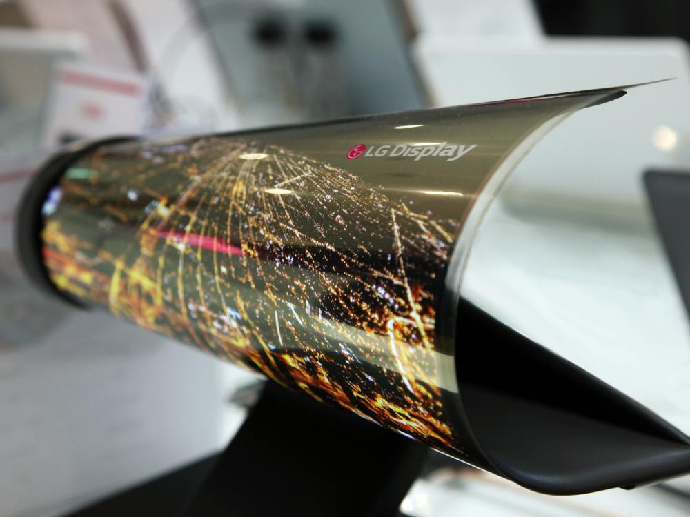 Rollbarer und flexibler 18 Zoll OLED Screen von LG Display (Foto: LG Display)