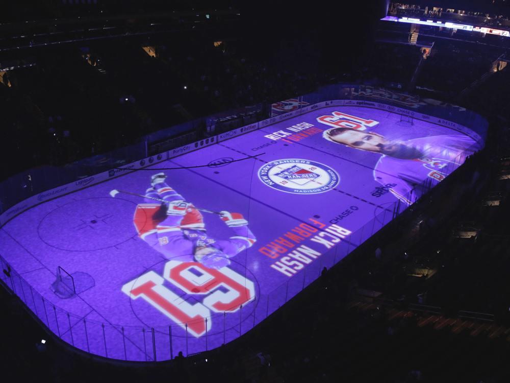 Statt Holiday on Ice - 3D Projection on Ice vor einem Rangers Spiel im MSG (Foto: WorldStage)