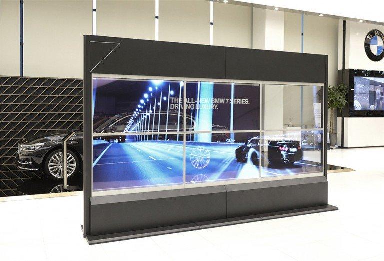Transparente OLED Video Wall (Foto: Samsung)